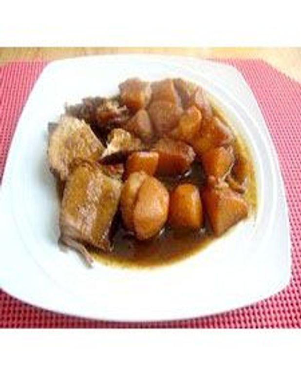 Rôti d'épaule de porc et patates jaunes