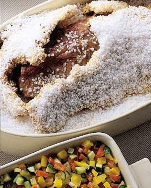 Rôti de porc en croûte de sel