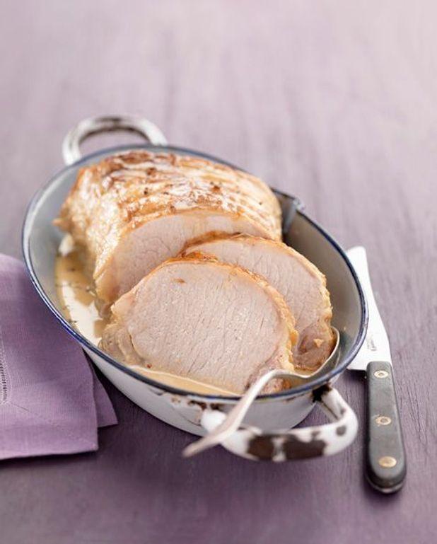 Rôti de porc aux lardons