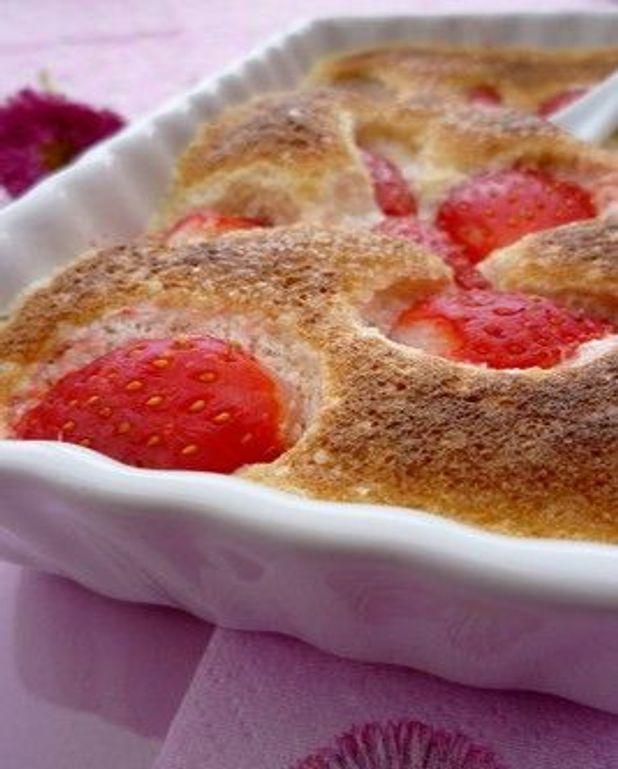 Sabayon au cidre et fraises