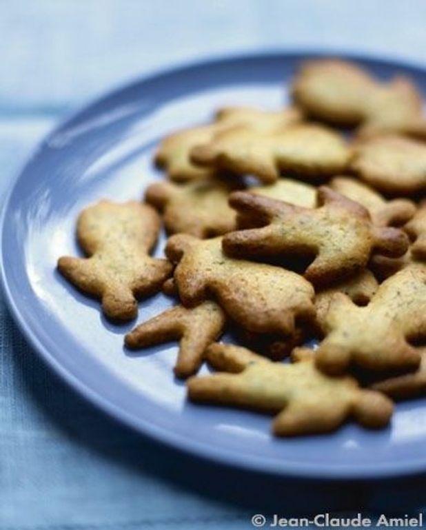 Sablés au pavot, gingembre et muscade