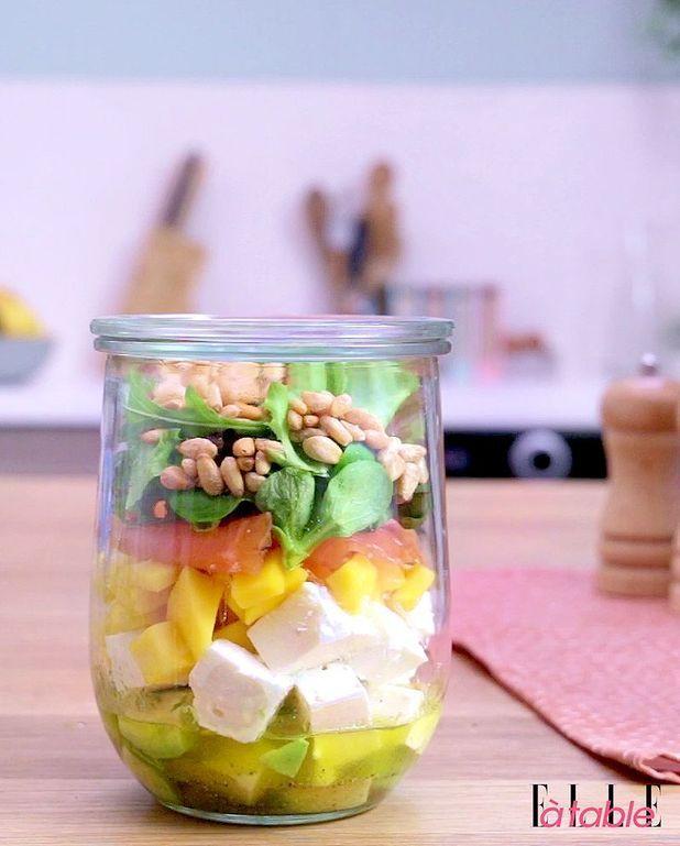 Salad in a jar (salade en bocal)
