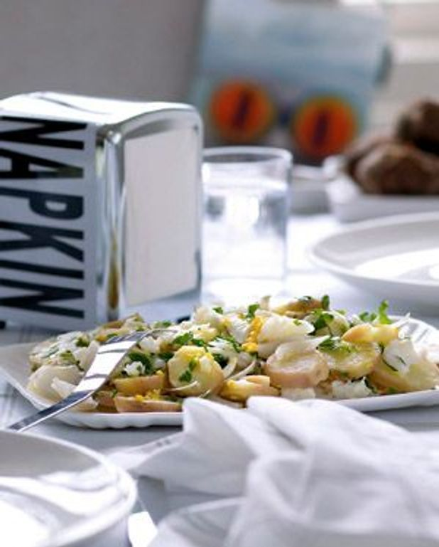 Salada de bacalhau assado