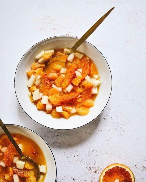 Salade agrumes et poire