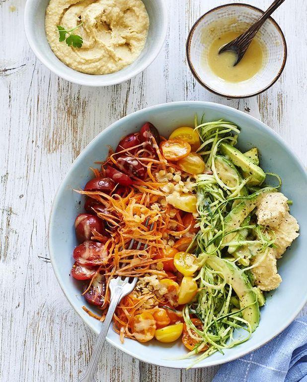 Salade arc-en-ciel de légumes