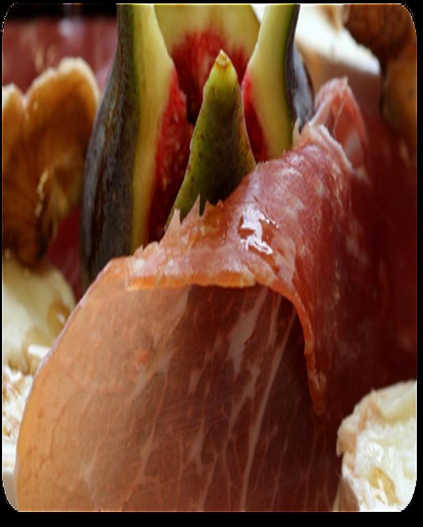 Salade au Crottin, melon et figues