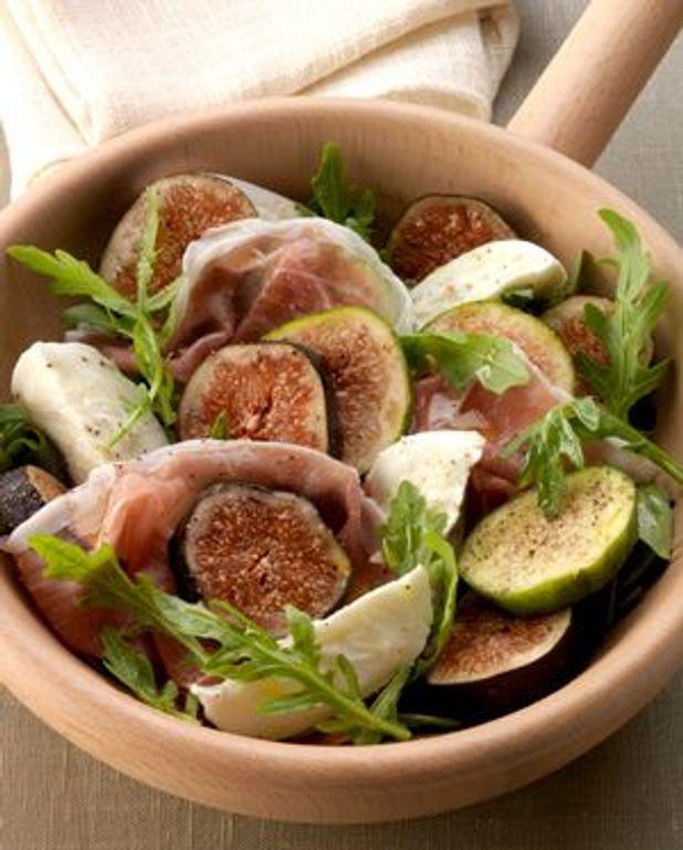 Salade aux deux figues