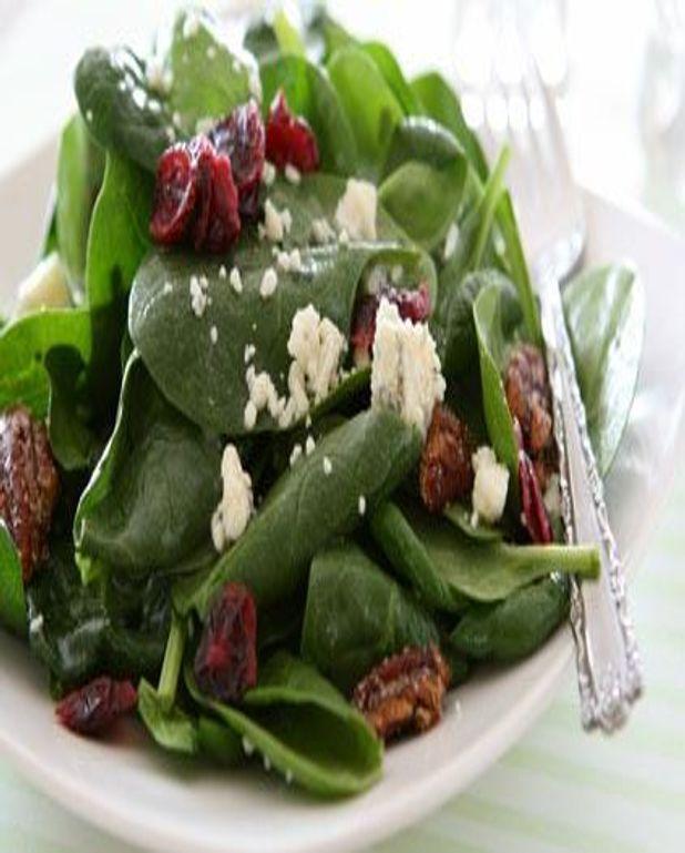 Salade aux épinards