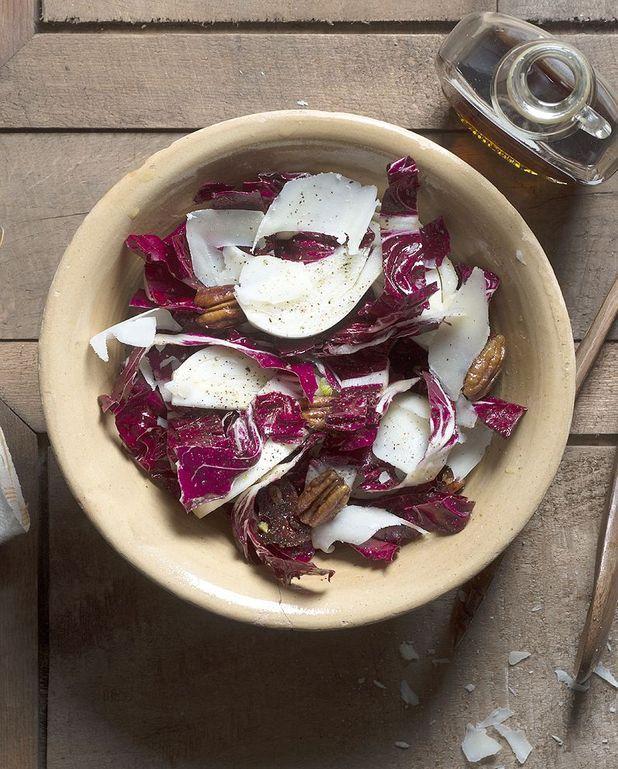 Salade aux noix de pécan, fenouil et pecorino