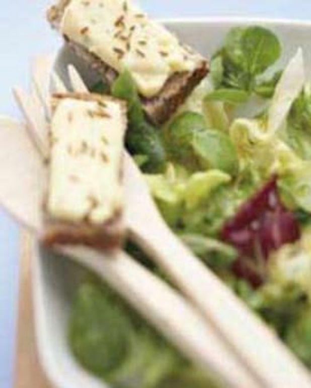 Salade aux tartines de munster