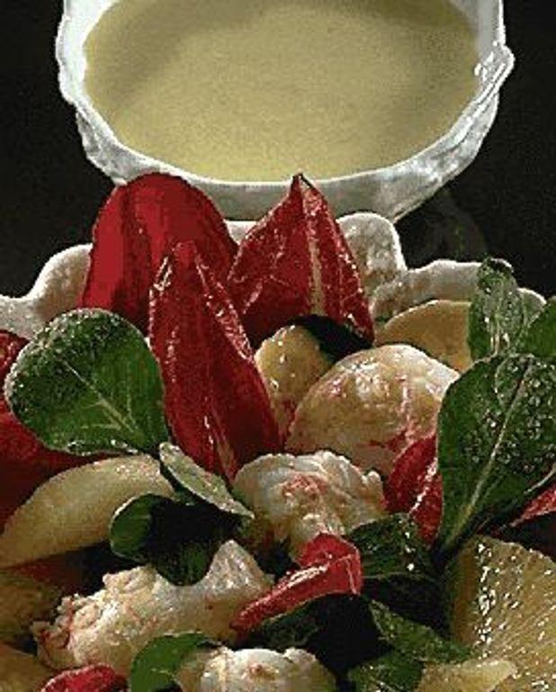 Salade bananes-gambas