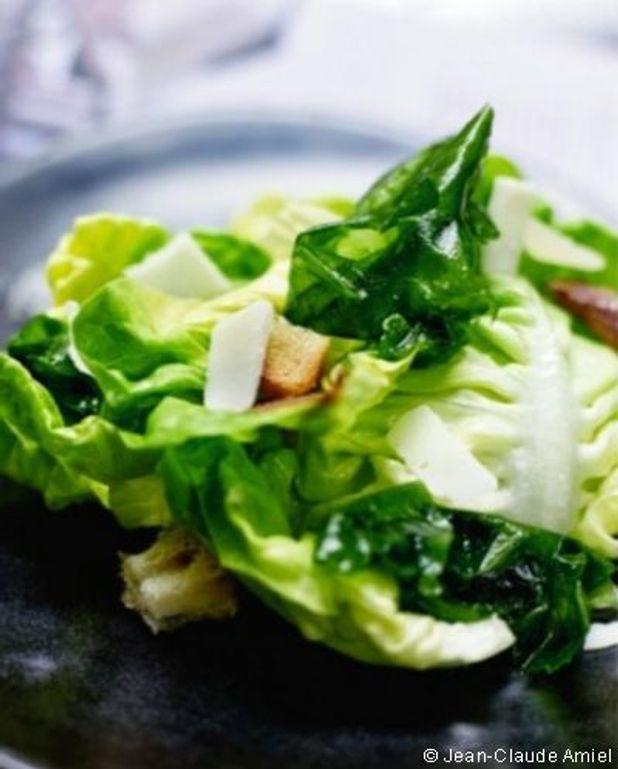Salade caesar  aux algues vertes