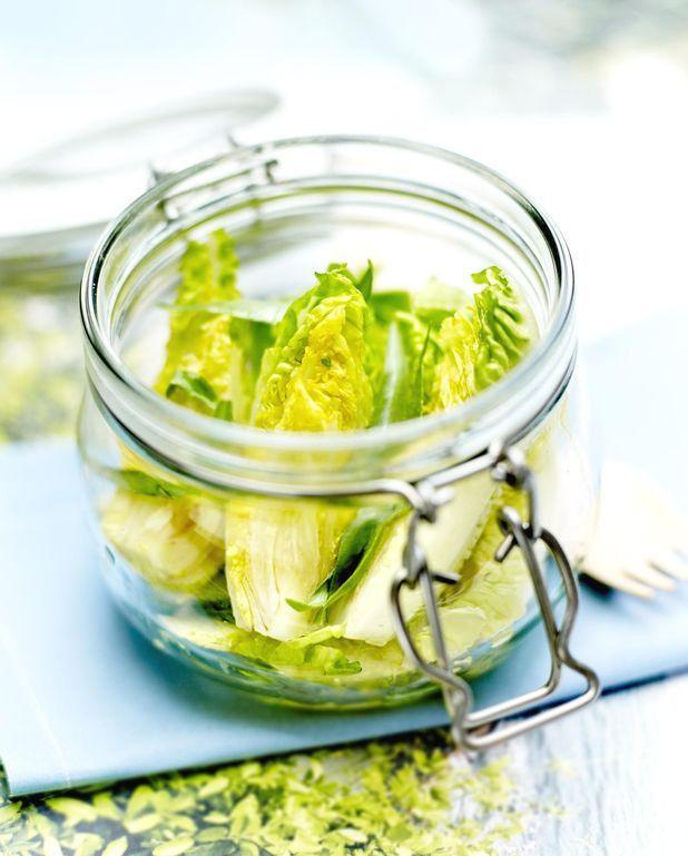 Salade Caesar en bocal