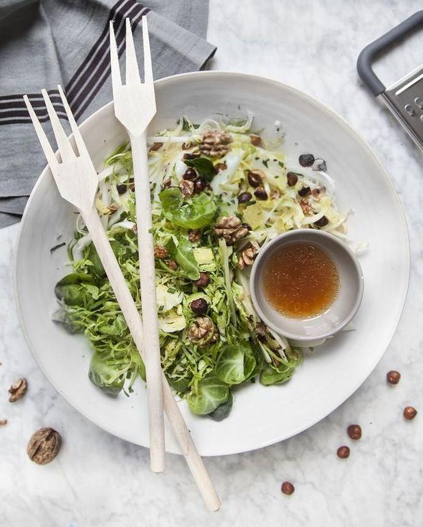 Salade choux de Bruxelles et pomme