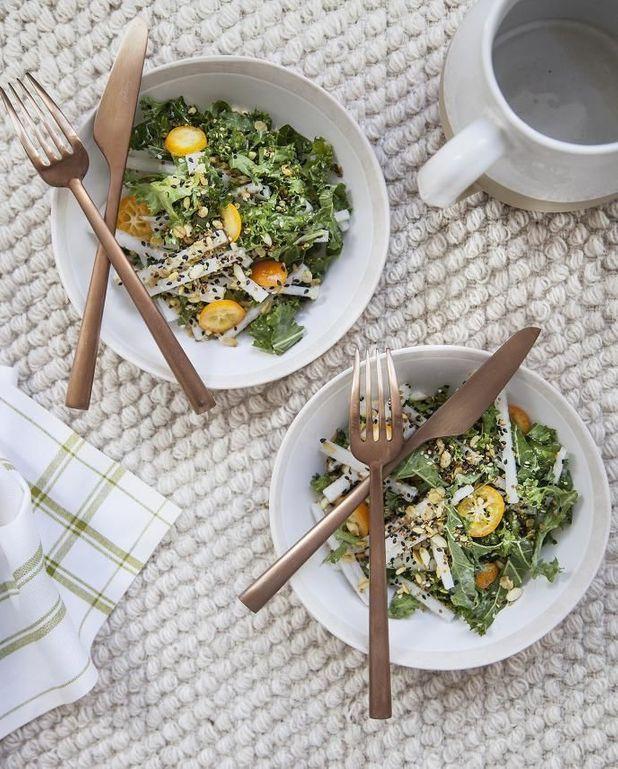 Salade crunchy, granola sucré-salé