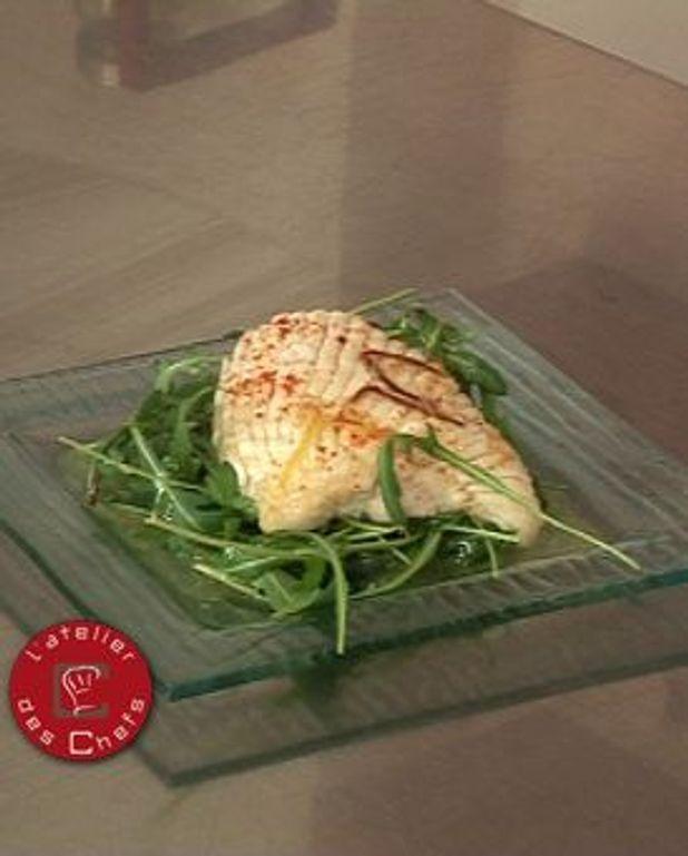 Salade d'aile de raie à la vinaigrette citronnée