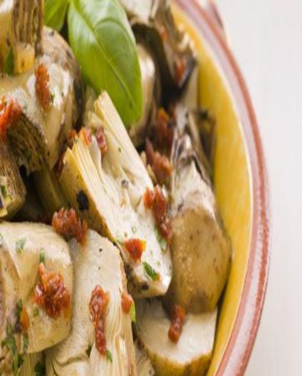 Salade d'artichauts et harissa