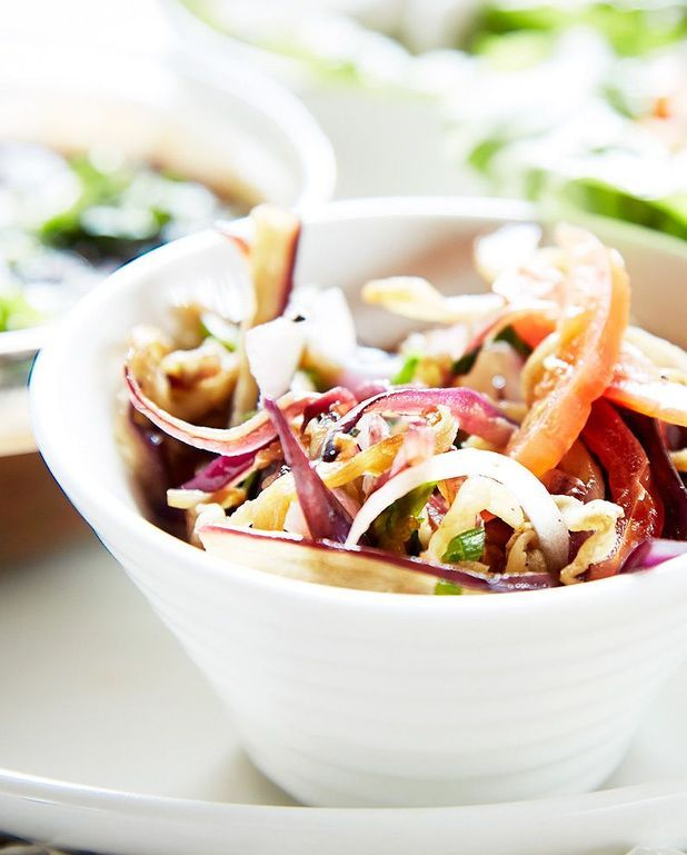 Salade d'aubergines à la ciboulette