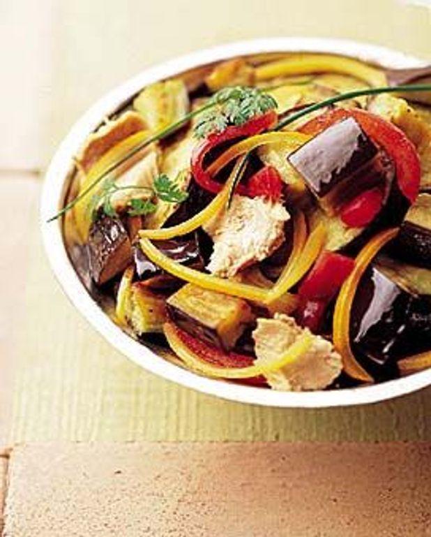 Salade d'aubergines et thon