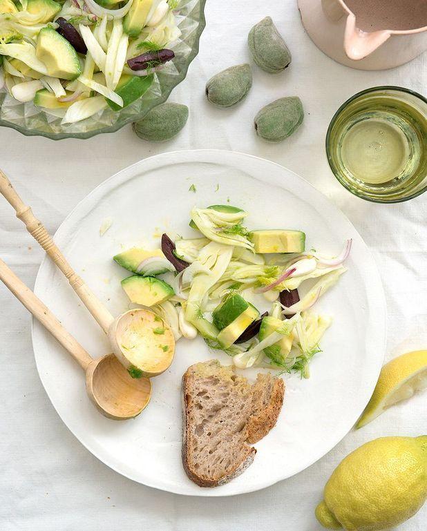 Salade d'avocat et fenouil aux amandes