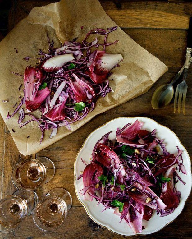 Salade d'endives et de chou rouge