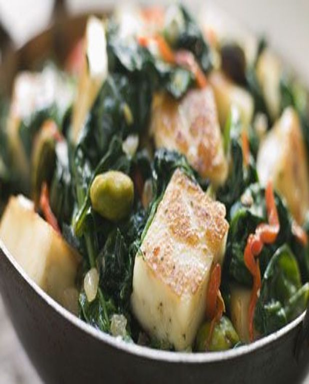 Salade d'épinards au tofu