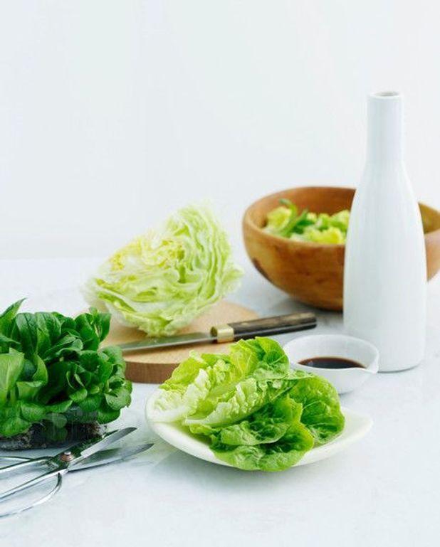 Salade verte au pamplemousse et crevettes