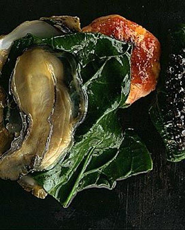 Salade d'huîtres au caviar