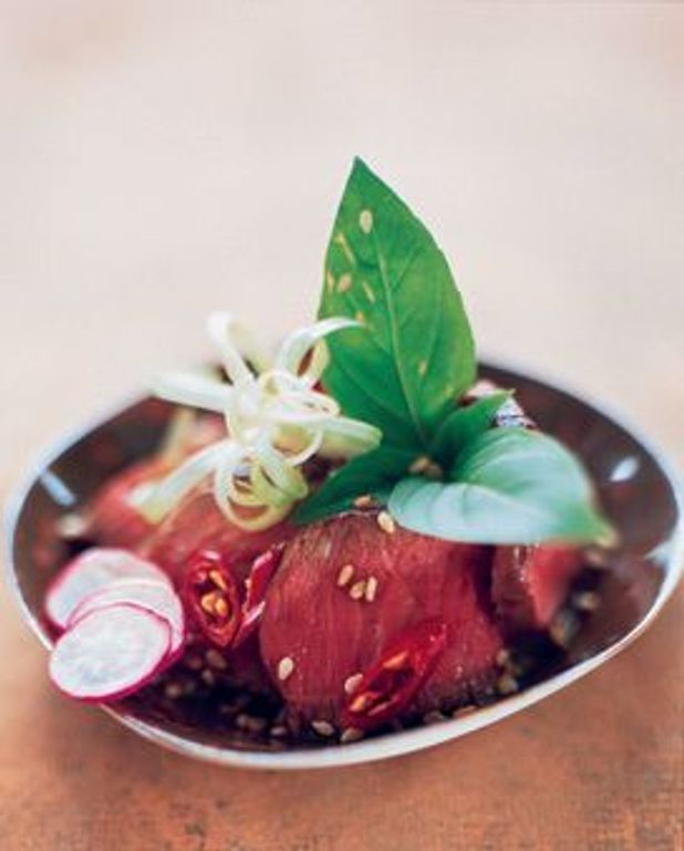 Salade de boeuf au basilic thaï