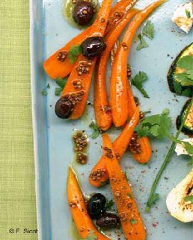 Salade de carottes cuites aux olives