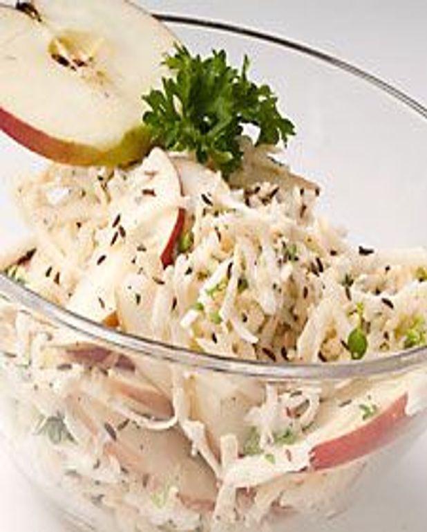 Salade de céleri aux pommes et carvi