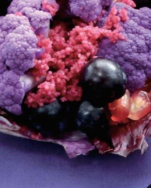 Salade de chou-fleur violet.