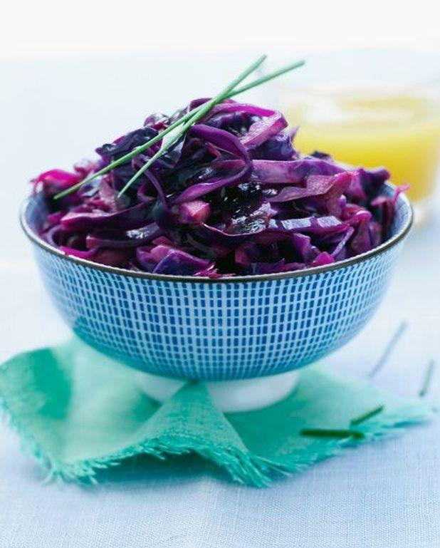 Salade de chou rouge à l'huile de noix