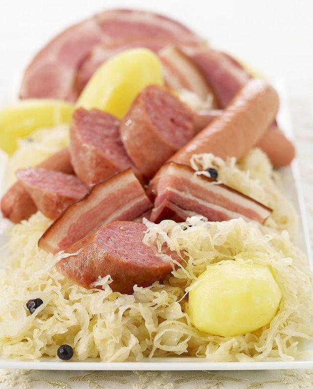 Salade de choucroute aux foies de volaille