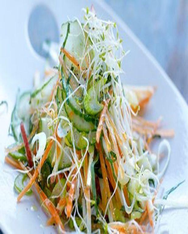 Salade de concombre à l'asiatique