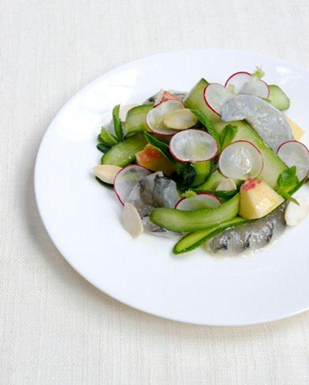 Salade de courgettes trompettes