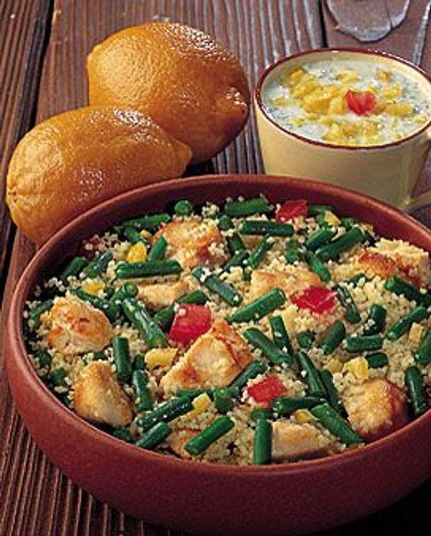 Salade de couscous aux haricots verts