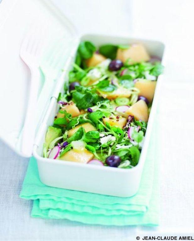 Salade de cresson, melon et menthe