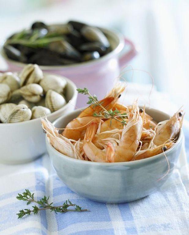 Salade de crevettes aux haricots étoilés