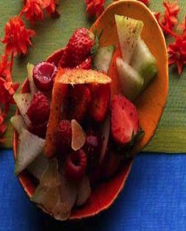 Salade de fruits d'été au tchaï