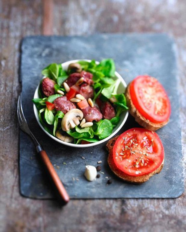Salade de gésiers et champignons