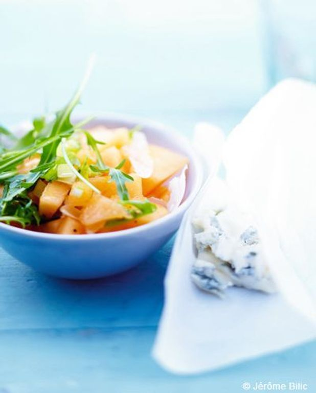 Salade de gorgonzola et melon