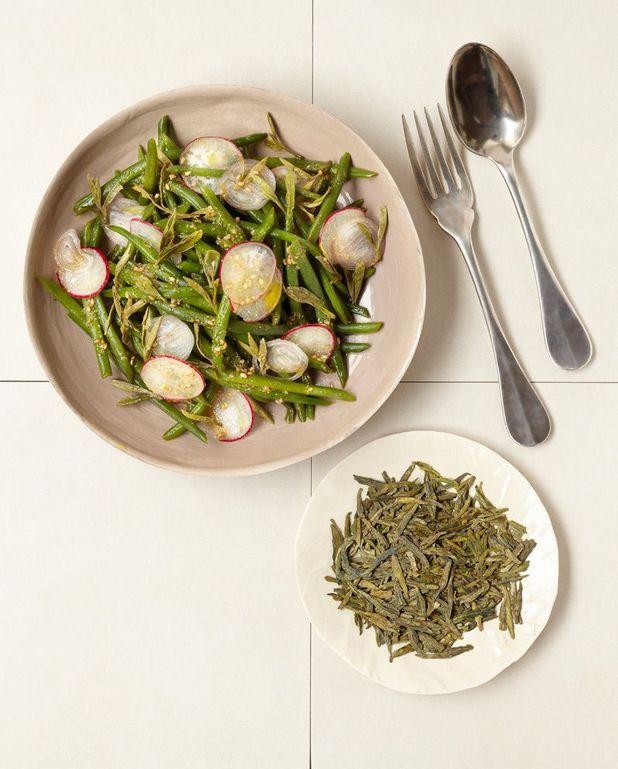 Salade de haricots au thé vert