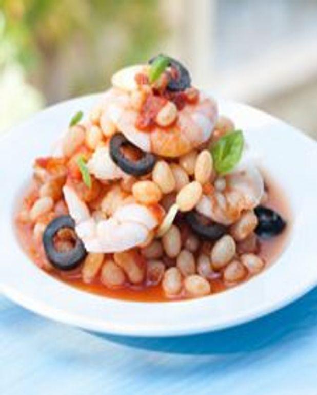 Salade de haricots aux crevettes