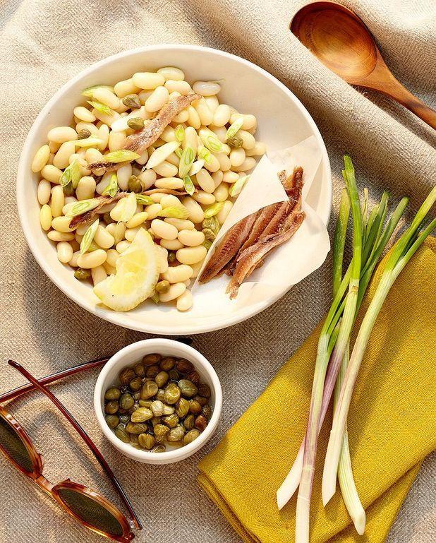 Salade de haricots blancs aux anchois