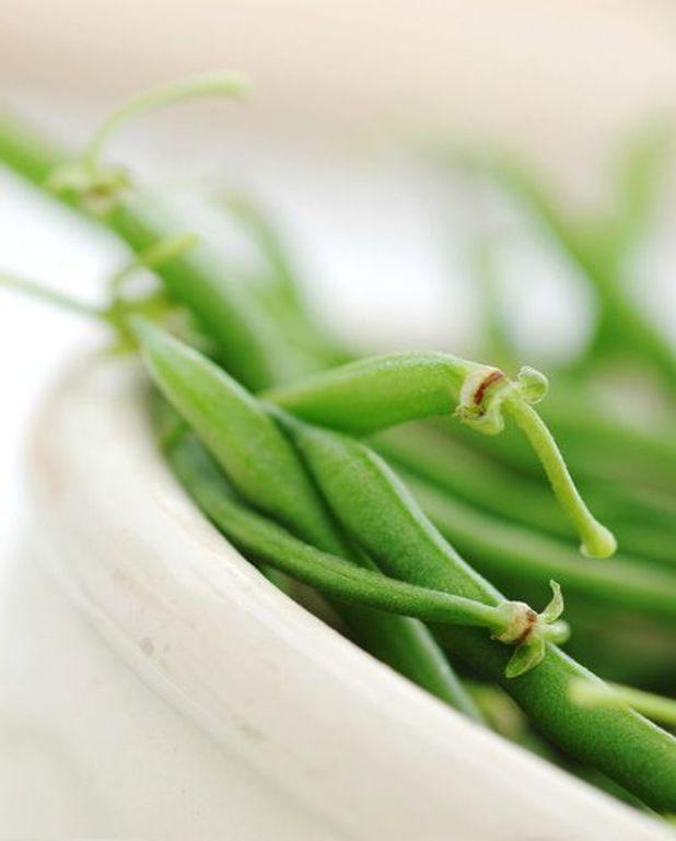 Salade de haricots verts et saumon fumé