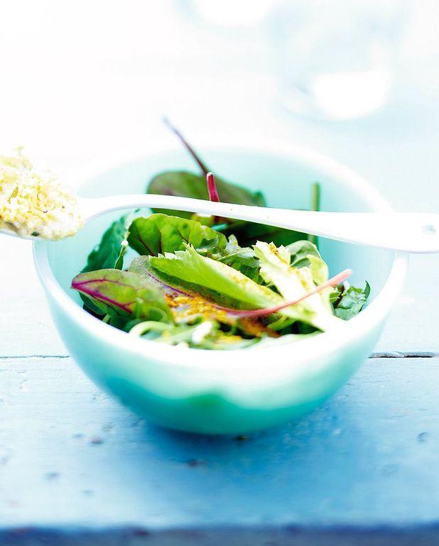 Salade de jeunes pousses, boulghour et boeuf cuit