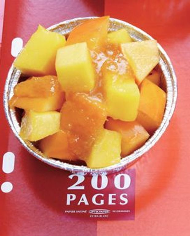 Salade de kaki persimon et mangue