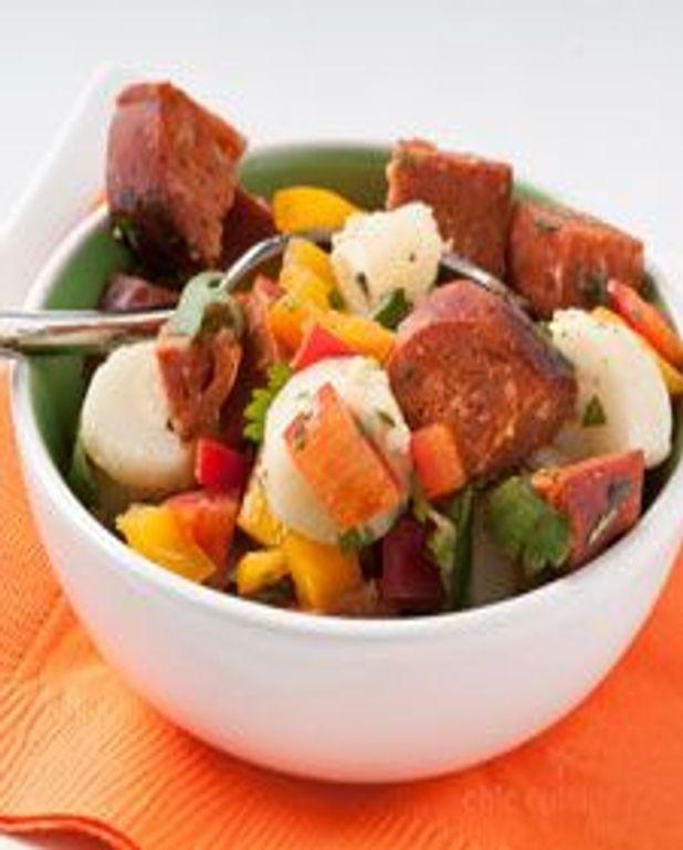 Salade de palmier et chorizo