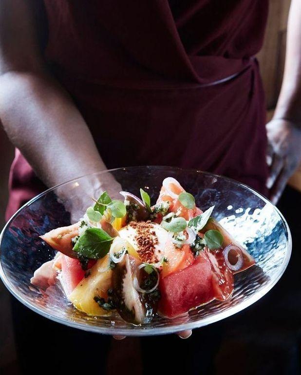 Salade de pastèque à la burrata